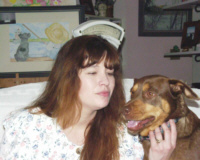 Photo of Shelley & Little Red Dog Nellie
